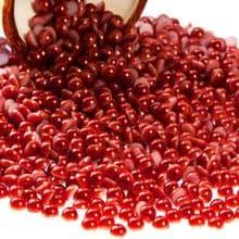 Acrylic Flat back Half Pearls - 3 4 5 6 8 & 10mm LADYBIRD RED